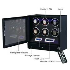 for 6 Watches With Remote Control Luxury Watch Winder Automatic Watch Display