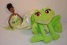 "7"" Princess Transforming Tiana Doll Frog Plush Stuffed Figure Disney Mattel 2009"