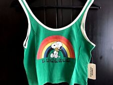 New Limited Ed Forever 21 Peanuts Snoopy Vintage Style Tank Top Vest Festival
