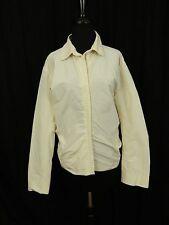 Jil Sander Ivory Cream Off White Zipper Windbreaker Jacket Coat Women's 40