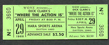 1966 Dick Clark Where The Action Is Unused Full Concert Ticket Raiders Playboys