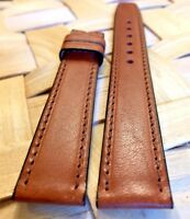 Genuine MOVADO 17mm Brown Western Leather Watch Strap Band New Retail $75.00