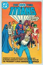 The New Teen Titans VG+ 1983 Anti-Drug Giveaway