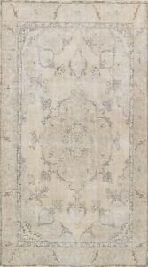 Muted Semi Antique Tebriz Wool Traditional Area Rug Distressed Hand-Knotted 6x9