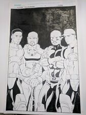 Original art for Super Sluggers from USE Comics. COMPLETE ISSUE AND COVER ART