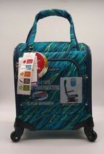 """American Tourister 16.5"""" Avatar Carry On Underseater Spinner Suitcase Teal ~ New"""