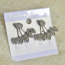 Fashion Womens Lady Elegant Flower Crystal Rhinestone Ear Stud Earrings Jewelry