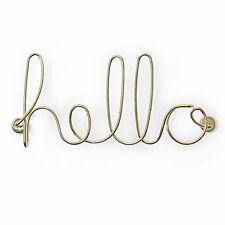 DECORO DECORAZIONE DA PARETE SCRITTA WORDART WIRED HELLO WALL DECOR UMBRA