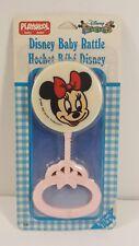 Vintage Minnie Mouse Pink Playskool Rattle Disney Babies Original Package