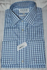 """THOMAS PINK """"LEAR CHECK"""" CLASSIC FIT FRENCH CUFF SHIRT 16/34.5 NWT"""