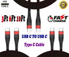 Braided Type-C Cable USB C to USBFast Charger Cable Cord for Macbook Samsung