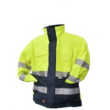 Scruffs Waterproof Parka Jacket Hi-vis With Hood Thinsulate Lining Small FREEPOS
