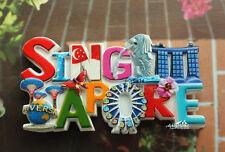 Singapore Multi-scenes Landmarks Tourist Travel Souvenir Resin Fridge Magnet