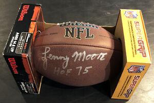 Lenny Moore, Baltimore Colts HOF Running Back Auto Wilson Football JSA/COA