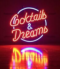 "New Cocktails And Dreams Bar Cub Decor Neon Light Sign 20""x16"""