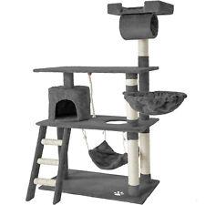 Cat Tree Scratching Post Scratch Centre Bed Toys Kitten Scratcher 141cm Grey