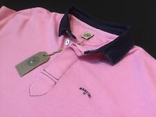 "MANCINI  XL  Chest Measures 51""  Pink Hercules Long Sleeve Rugby Polo  RRP £99"