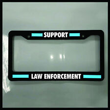Blue Line License Plate support law enforcement Frame REFLECTIVE police tag