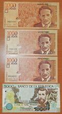 Costa Rica 1000 Pesos 17.12.2001/09.11.2006/19.08.2015 Banknotes + Bonus - n815