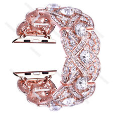 Kirsite Diamond Watch Band Bling Bracelet Wrist Strap For Apple Watch 38mm/42mm