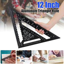 12'' Metric Aluminum Triangle Angle Protractor Speed Square Roofing Miter Rulers