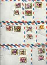 NIUE O.H.M.S.COVERS 10 WITH FLORAL STAMPS & INSERTS VG COND FREE USA SHIPPING