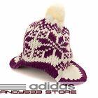 Reebok Ear Flap Hat Peruvian Beanie Double Layer Knit Warm Winter Women Men 56cm