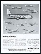 1949 Boeing Monomail 247 314 B9 B17 B29 B50 B47 etc 10 plane vintage print ad