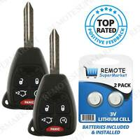 Replacement for Dodge 08-14 Avenger 06-13 Durango Remote Car Key Entry Fob Pair