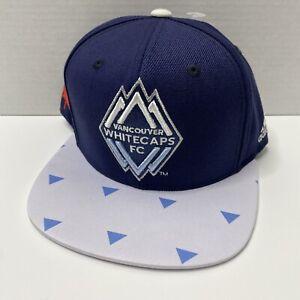 Vancouver Whitecaps FC MLS Soccer Adidas Snapback Cap Hat Rare One Size