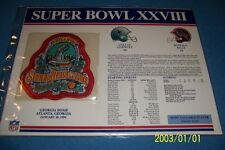 1994 DALLAS COWBOYS vs BUFFALO Bills SUPER BOWL XXVIII Patch Commemorative FREE