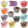 25/50/100 Filigree Vine Cupcake Wrappers Cases Gift Xmas Wedding Birthday Cake