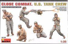 1/35 MiniArt 35135-  WWII Close Combat U.S. Tank   -  (5 Figure set) Plastic Kit