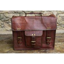 Men Handmade Retro Real Leather Messenger Shoulder Bag Laptop  Briefcase Attache