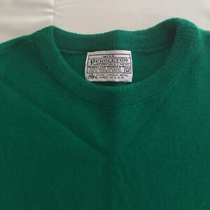 Vintage Pendleton Virgin Wool Sweater Womens M Green Pullover USA Made 60s Style