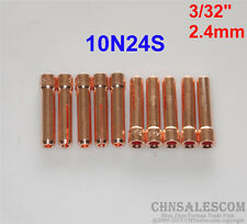 """10 pcs 10N24S Short Collets for Tig Welding Torch WP-17 WP-18 WP-26 2.4mm 3/32"""""""