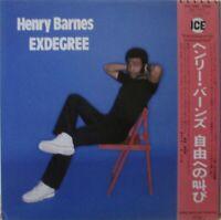HENRY BARNES - Exdegree ~ VINYL LP JAPANESE PRESS + INSERT & OBI
