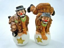 Pair of Flambro Emmett Kelly Jr Sad Clowns