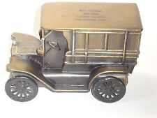 VINTAGE 1915 MODEL T FORD CAR COIN BANK MADE BY BANTHRICO INC FOR BELL SAVINGS