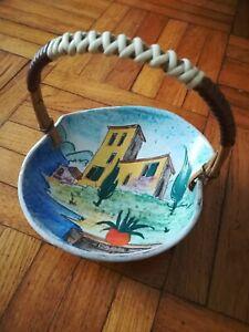 Keramik Korb Schale HUBER ROETHE Keramische Werkstatt Achdorf Landshut 1950 er