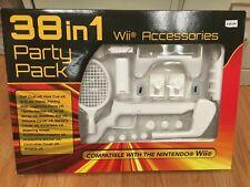 Nintendo Wii Sports Pack 38 in 1 Accessories Kit w/Gun, Golf Club & Wheel Great!
