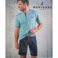 Navigare Pigiama Uomo Mezza Manica Pantaloncino Fresco Cotone Art. b2141110