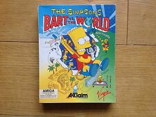 Bart vs el mundo Commodore Amiga The Simpsons Game En Caja Completa probada