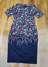 Boden Fleur Fitted Shift Dress in Navy Floral WW217 UK 10L. RRP £110 Brand new.
