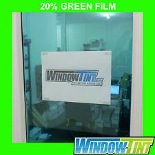 GREEN DECORATIVE WINDOW FILM STAINED GLASS - 75cm x 1m