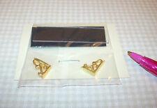 "Miniature 2"" Acrylic Display Shelf (Short) w/Gold Plated Brackets DOLLHOUSE 1/12"