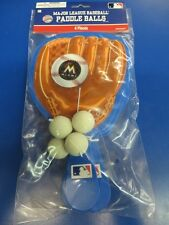 Miami Marlins MLB Pro Baseball Glove Sports Party Favor Toy Paddle Ball Games