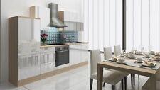 respekta Küchenzeile Küchenblock RP280AWC 280  weiss Hochglanz mit E-Geräten Neu