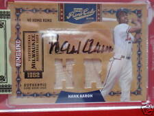 Prime Cuts Hank Aaron Autograph Auto Dual Bat Mint