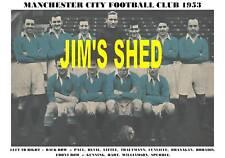 Manchester City Squadra stampa 1953 (Hart / revie / Gunning)